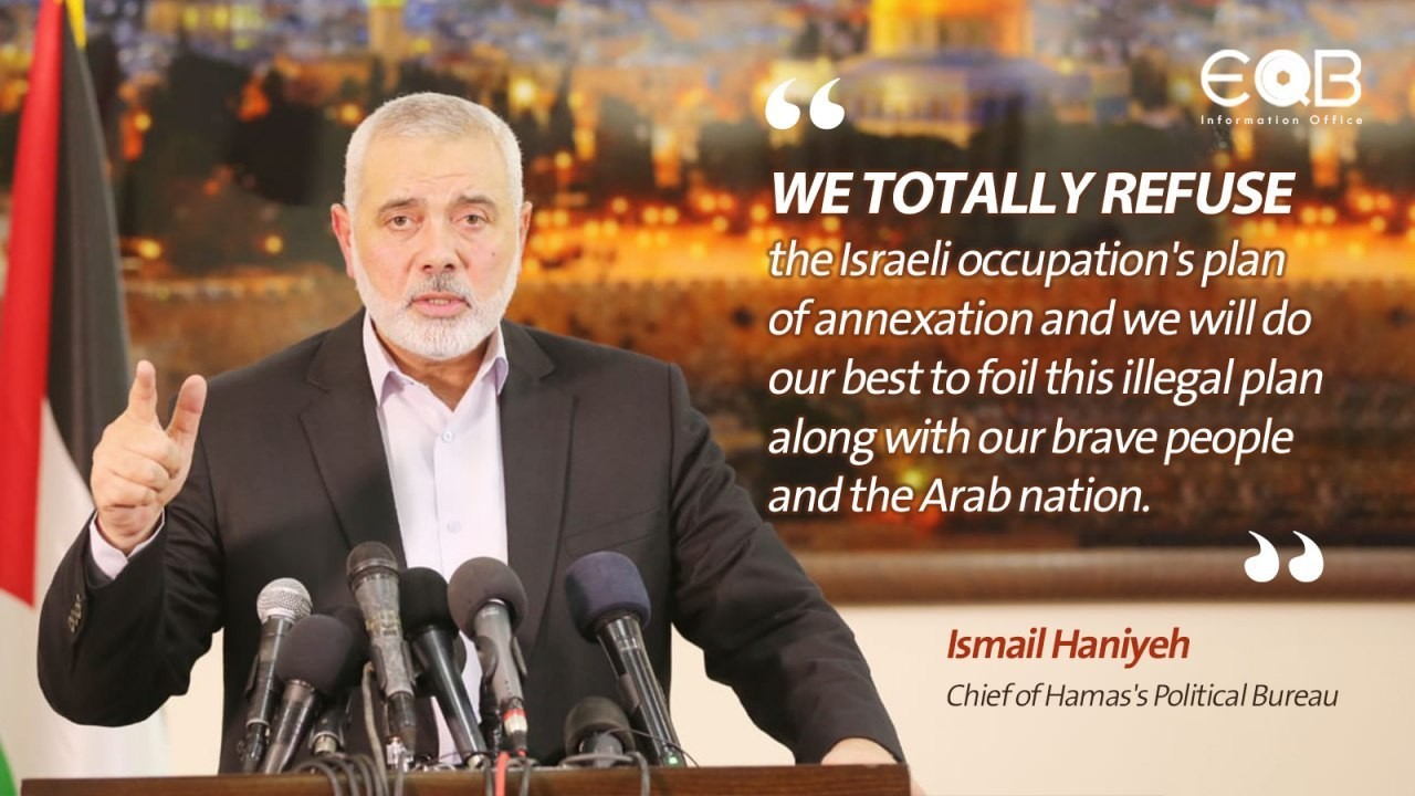 Hamas Chief Ismail Haniyeh on Annexation