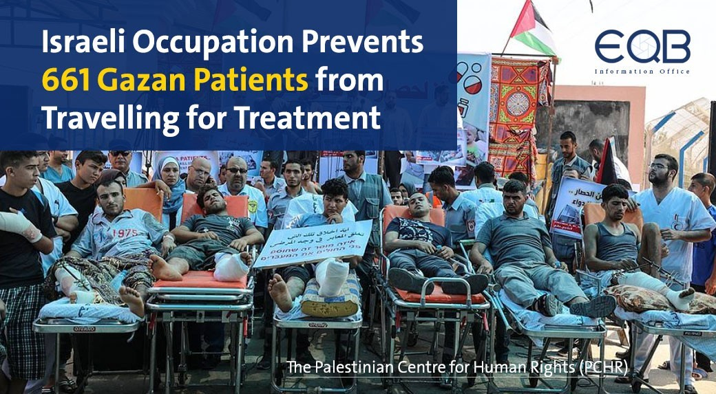 Israeli Occupation Prevents 661 Gazan Patients from Treatment