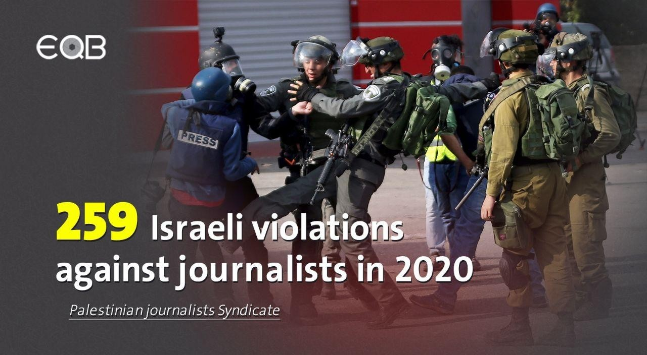 259 violations by the Israeli occupation against Palestinian journalists in 2020