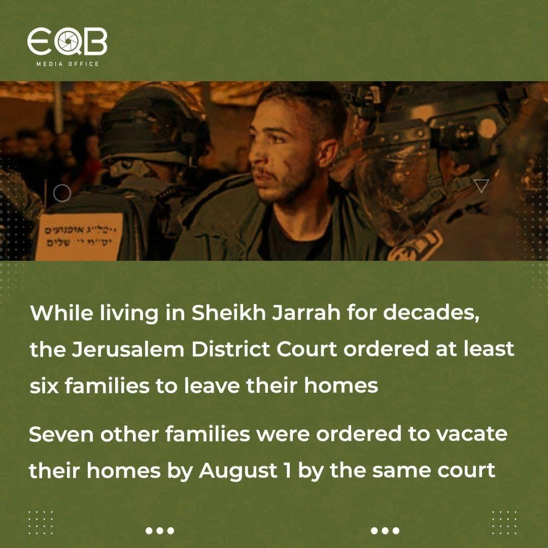What is happening in occupied Jerusalem's Sheikh Jarrah?